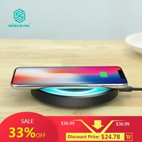 10W Fast Qi Wireless Charger NILLKIN for iPhone X/XS/XR/8/8 Plus for Samsung Note 8/S8/S10 qi wireless charger portable For Mi 9