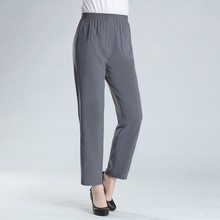 Middle Aged Women Spring Summer Vintage Fashion Straight Trousers Casual Elastic Waist Pants Pantalon Femme Plus Size 4XL spring summer middle aged women pants elegant high waist solid color pant casual straight trousers pantalon femme plus size 4xl
