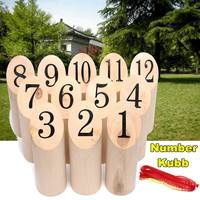 NEW Numbers Kubb Set Wooden Game Bowling Kubb Shotting Viking Toy Outdoor Garden Yard Lawn Game Toys Family Sports Kit