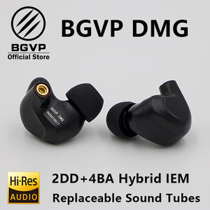 BGVP DMG słuchawki hi-fi 2DD + 4BA hybrydowa technologia IEM typy douszne z wymiennym kablem MMCX konstrukcja etui ze stopu Aluminium