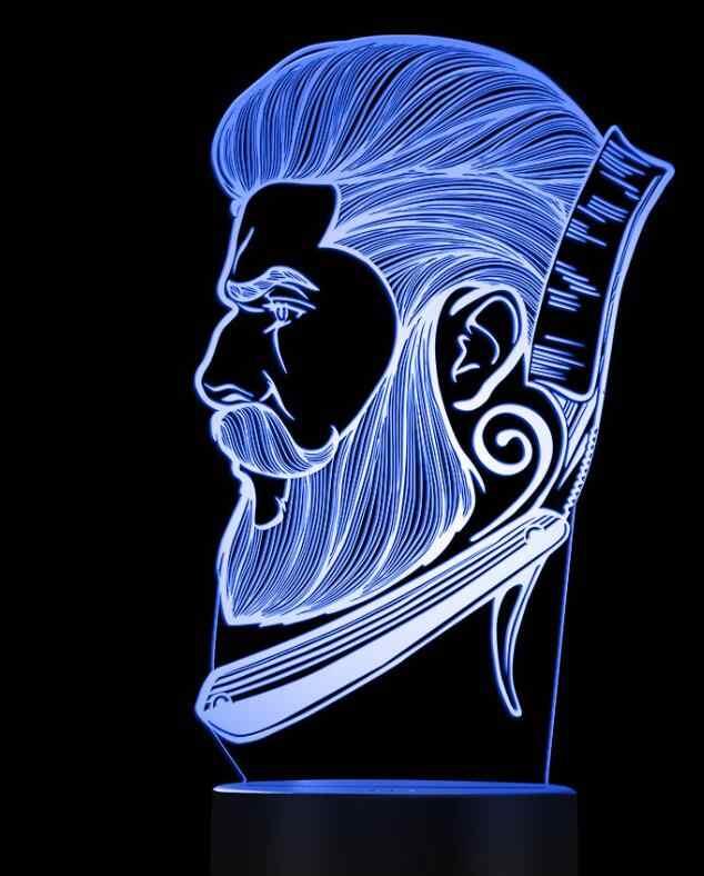 Парикмахерская бизнес LED ночник салон красоты парикмахерский магазин знак