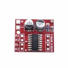 1 шт. 2-полосная DC мотор привода Модуль Реверсивный ШИМ Скорость Двойной Н Мост шаговый двигатель мини победы L298N