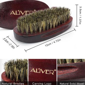 XY Fancy 7 Pcs/set Men Beard Care Suit Beard Comb Pig Bristle Brush Growth Cream Oil Beard Styling Care Cleaning Kit 5