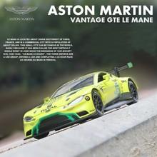цена на 1:32 Aston Martin Diecast Metal Model Vantage GTE Le Mans Sound Light Race Car Pull Back Collection Toys For Children HotWheelin