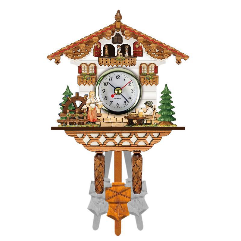Retro 3d Cartoon Cuckoo Wall Clock Wooden European Style Living Room Bedroom Cuckoo Clock Household Diy Clock Without Battery Wall Clocks Aliexpress