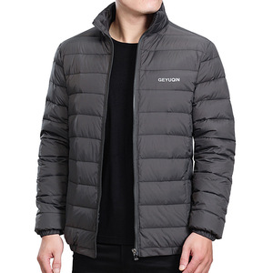 Image 4 - Mens Winter Jacket Coat 2020 White Duck Down Light Jacket Casual Outerwear Snow Warm Stand Collar Brand Male Feather Coat Parkas