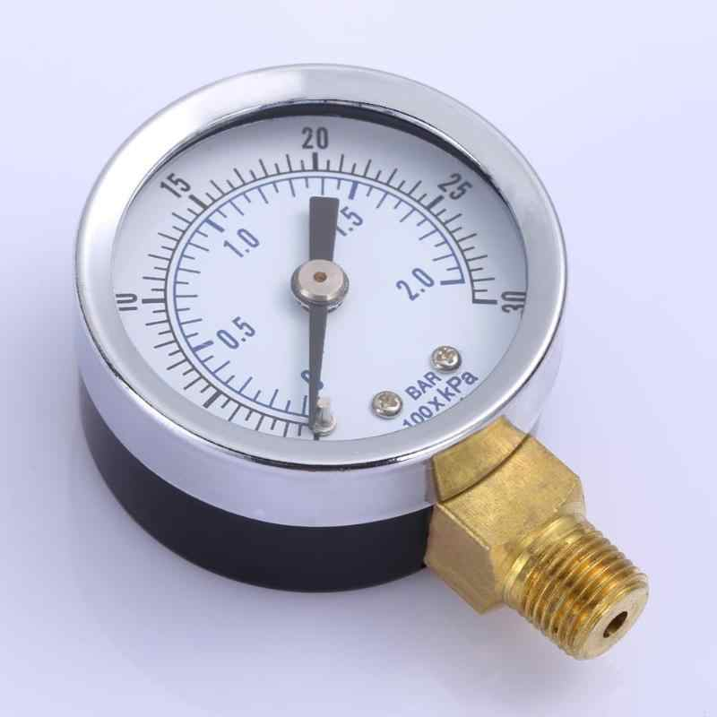 """New Water and Air Pressure Gauge New 1//8/"""" Brass Thread 0-15 PSI 0-1 Bar MT"""