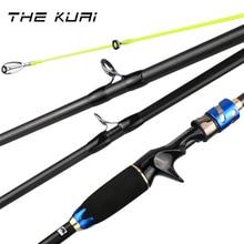 THEKUAI Telescopic Fishing Rod Casting Carbon Fish Hand 4 Section Fiber Lure Pole Tackle Baitcasting