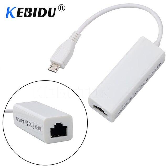 Kebidu Mini USB 2.0 Ethernet Adapter USB To RJ45 10/100Mbps Ethernet LAN Thẻ Adapter Cho Máy Tính windows 10/8/7/XP