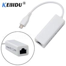 Kebidu adaptateur Mini USB 2.0 vers RJ45, carte réseau Lan 10/100 mb/s, pour PC, Windows 10/8/7/XP