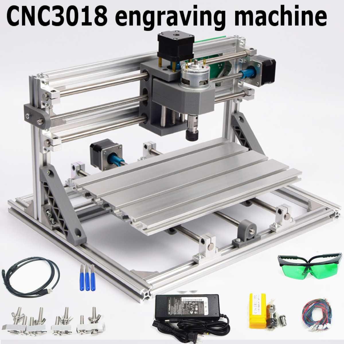 CNC 3018 gravure Machine avec 500 mw Laser tête bois routeur PCB fraiseuse bois sculpture Machine bricolage Mini CNC avec GRBL