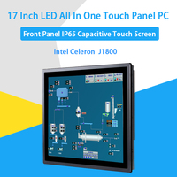 17 Inch IP65 Industrial Touch Panel PC,All in One Computer,10 Points Capacitive TS,Windows 7/10,Linux,Intel J1800,[HUNSN DA16W]