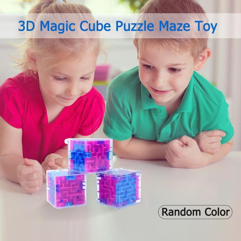 1 Pc 2019 3d-magic Cube Puzzle Labyrinth Spielzeug Kinder Kinder Pädagogisches Dekompression Kapsel Harmlos Spielzeug Weihnachten Geschenke Zufalls Farbe