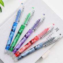 5pcs/Set Colourful Straight Liquid Gel Pen Quick Drying Pen Creative Simple Neuter Pen School Office Supplies Pilot Style Pen japan pilot anti fatigue gel pen bl 415v handshake comfort 0 7mm 5pcs