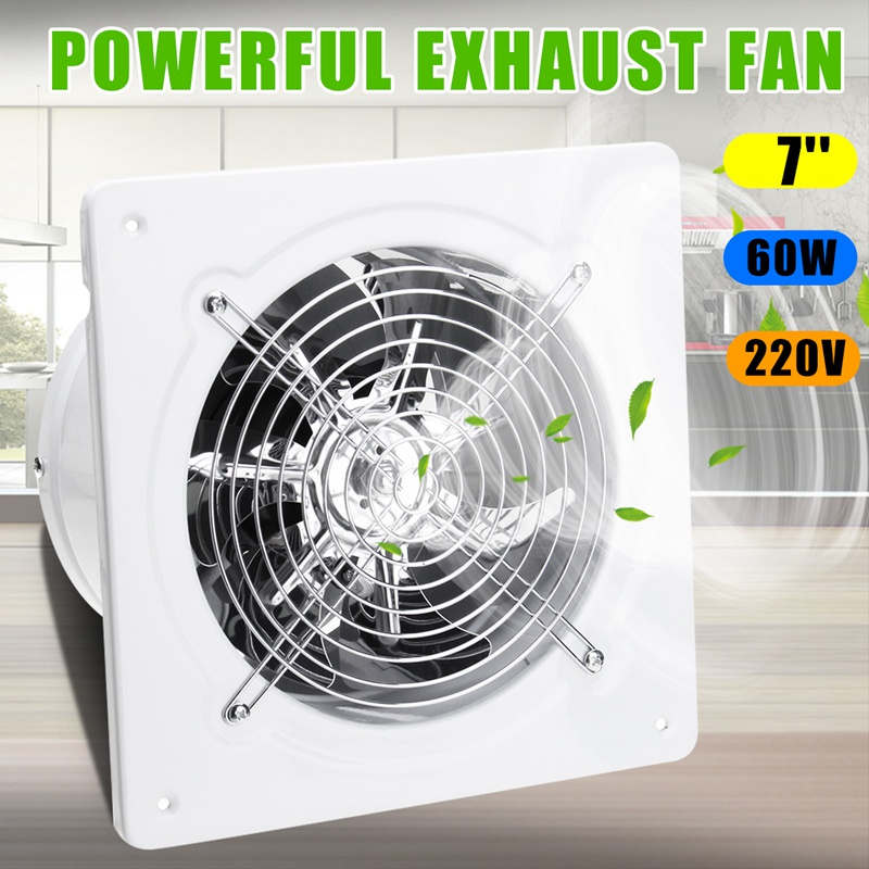 Warmtoo 7inch 60W Duct Booster Fan Exhaust Blower Air Cleaning Cooling Vent Metal Blade Ceiling Wall Window Bathroom Kitchen FanWarmtoo 7inch 60W Duct Booster Fan Exhaust Blower Air Cleaning Cooling Vent Metal Blade Ceiling Wall Window Bathroom Kitchen Fan