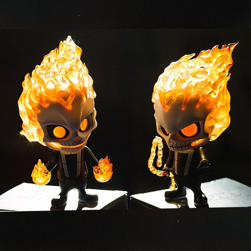 11.5cm Ghost Rider Figure Model Toys Toys Baby Ver. Bobble Head Dolls 2 Styles Toys Gifts SHIELD PVC Action Figure Models