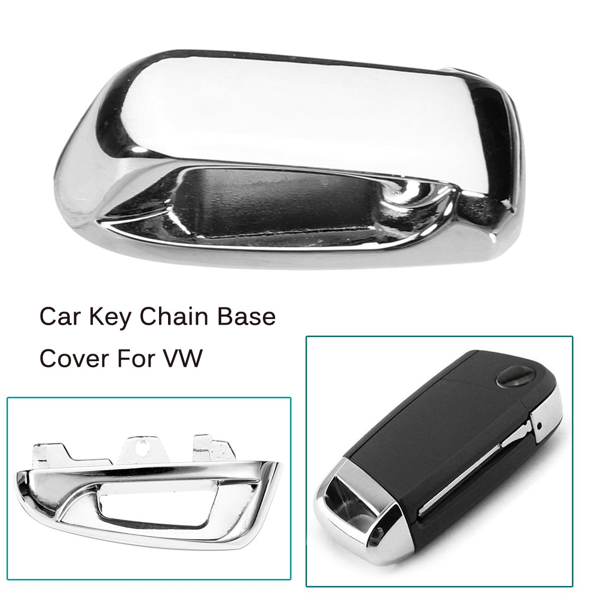 Remote Key Chain Hole Metal Cover Keyless Top Head Key Base for Volkswagen <font><b>VW</b></font> <font><b>Golf</b></font> <font><b>7</b></font> MK7 <font><b>GTI</b></font> Touran 2016 Octavia A7 2015 2016 image