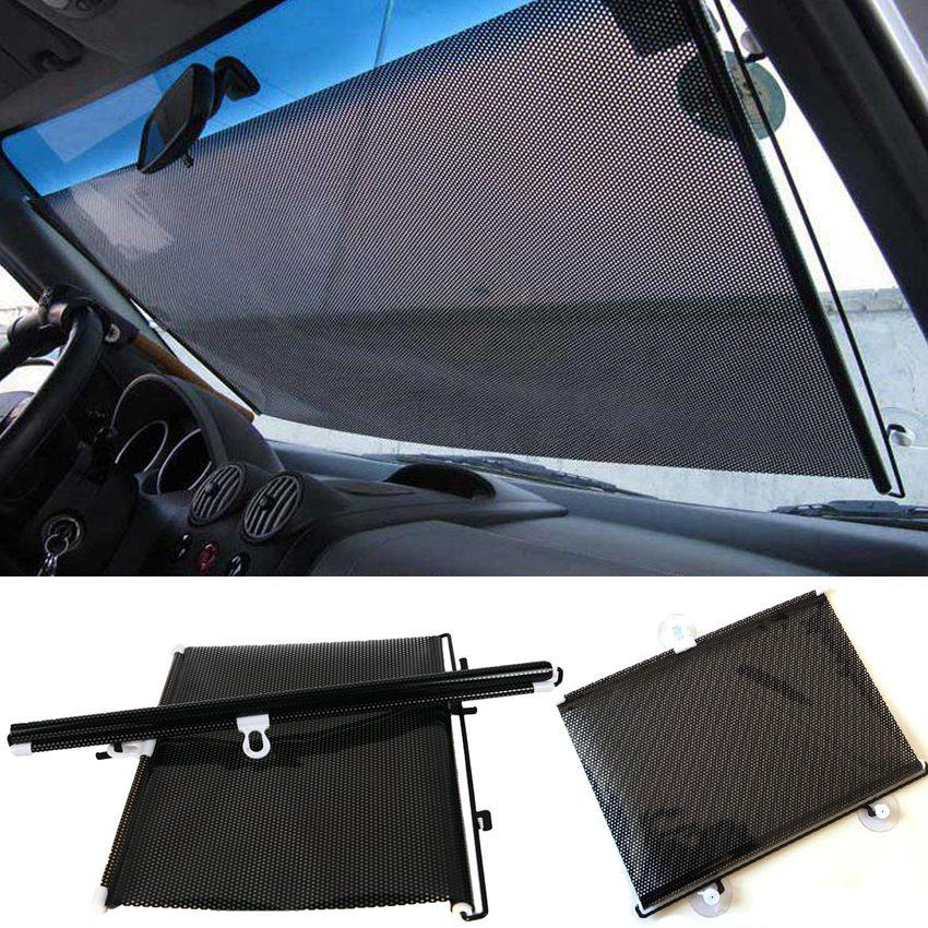 LMoDri Free Shipping New Retractable Car Auto Front Back Windshield Sun Shade Cover Visor Sunshield