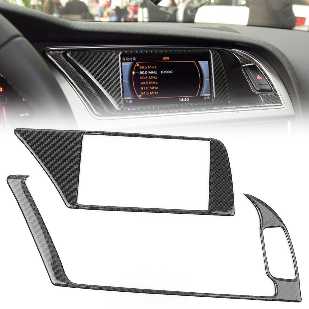 GPS Navigator Panel Trim Interior Frame Protector Trim Decoration For <font><b>Audi</b></font> <font><b>A4</b></font> A5 2009 2010 2011 2012 <font><b>2013</b></font> 2014 2015 2016 image