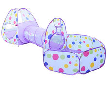 Large Toy Baby Tents Kids Crawling Tunnel Play Tent House Ball Pit Pool Tent for Children Toy Ball Pool Ocean Ball Holder Set(China)