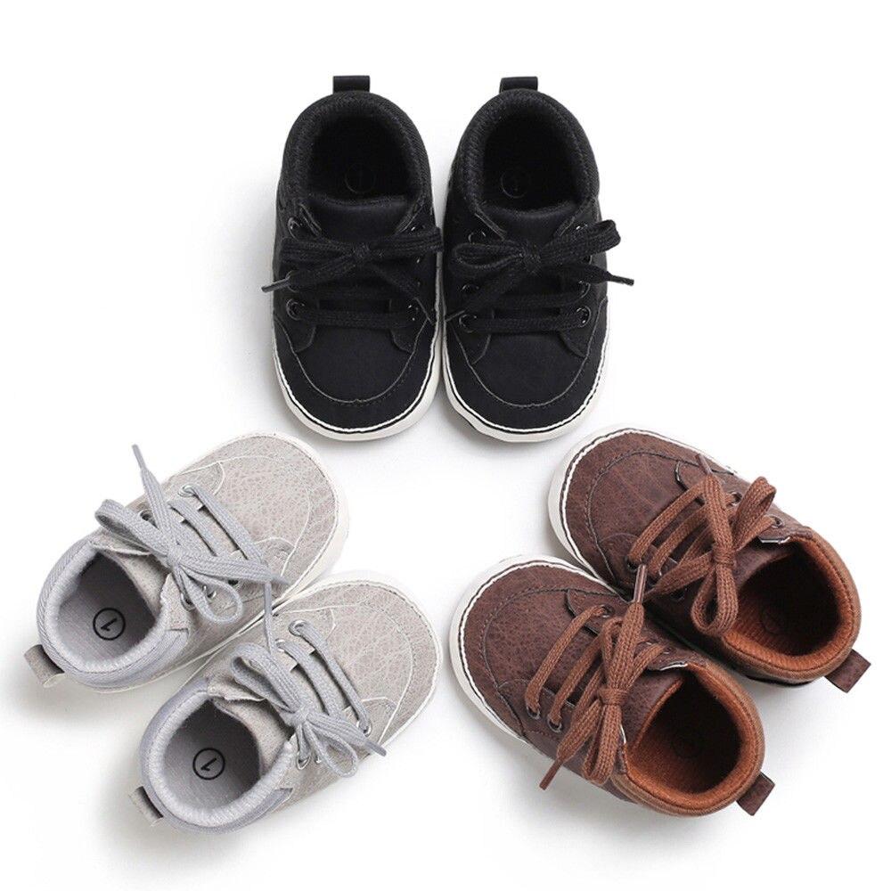 Newborn Baby Boy Girl Soft Sole Cloth Crib Shoes Anti-slip Sneaker Prewalker 0-18M