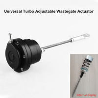 0.5 bar Aluminum Alloy Black Turbo Adjustable Wastegate Actuator Rod Universal 150mm Auto Replacement Parts