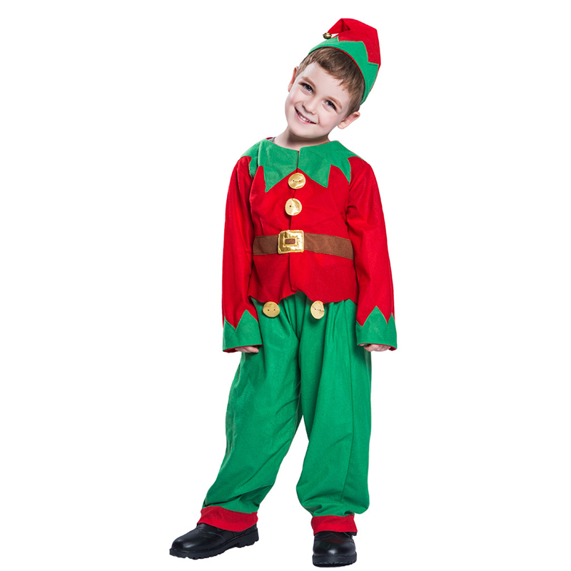 Boy Christmas Costume Elf Costume Cosplay For Kids