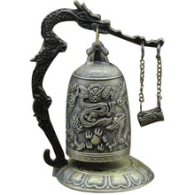 Vintage Dragon Ball Hang Decoration Buddhist Bell Ornament Bronze Lock Monk Home Office Decoration Artwork(China)