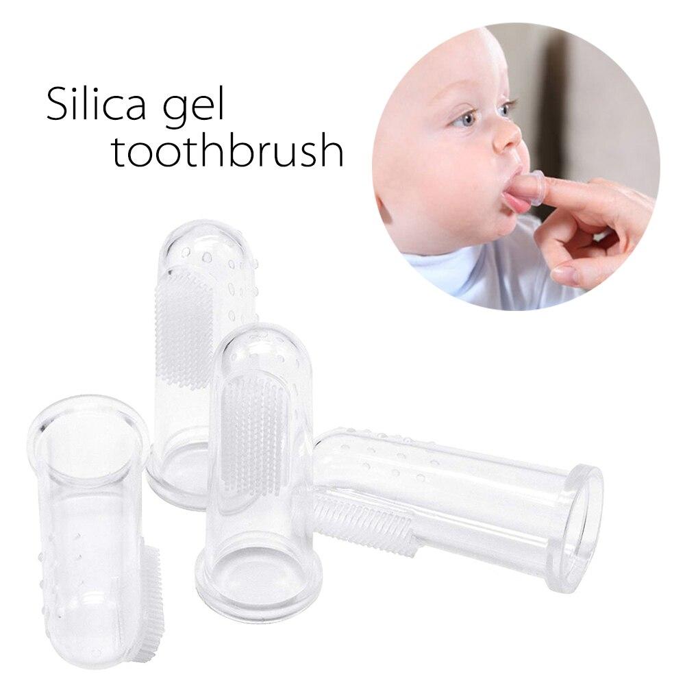 1 Pc Safe Weiche Silikon Baby Finger Zahnbürste Kinder Infant Ausbildung Beißring Zahnen Massager Pet Zähne Reinigung Pinsel Eleganter Auftritt