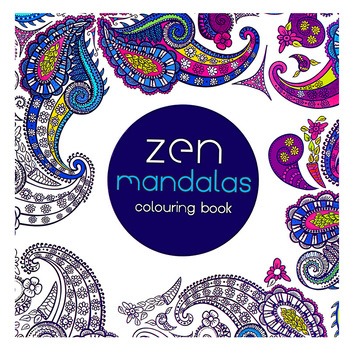 24 Pages Mandala Flower DIY Coloring Book Painting Graffiti Book Relieve Stress Leisure Art Book