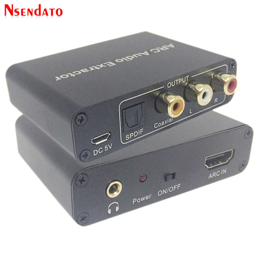 192 K Hz HDMI ARC Adapter Audio Extractor Digital Ke Analog Konverter Audio DAC SPDIF Coaxial RCA 3.5 Mm Jack Output untuk HDTV