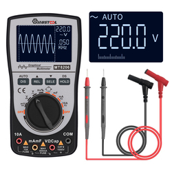 Upgraded MUSTOOL MT8206 2 in 1 Intelligent  Digital Oscilloscope Multimeter with Analog Bar Graph 200k High-speed A/D Sampling