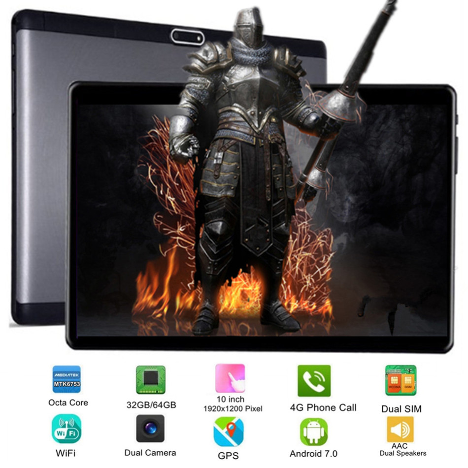 KUHENGAO MT6753 Octa Core Android Tablets 32/64GB 10 Inch 1920x1200 Display Dual SIM 4G Phone Call Tablet