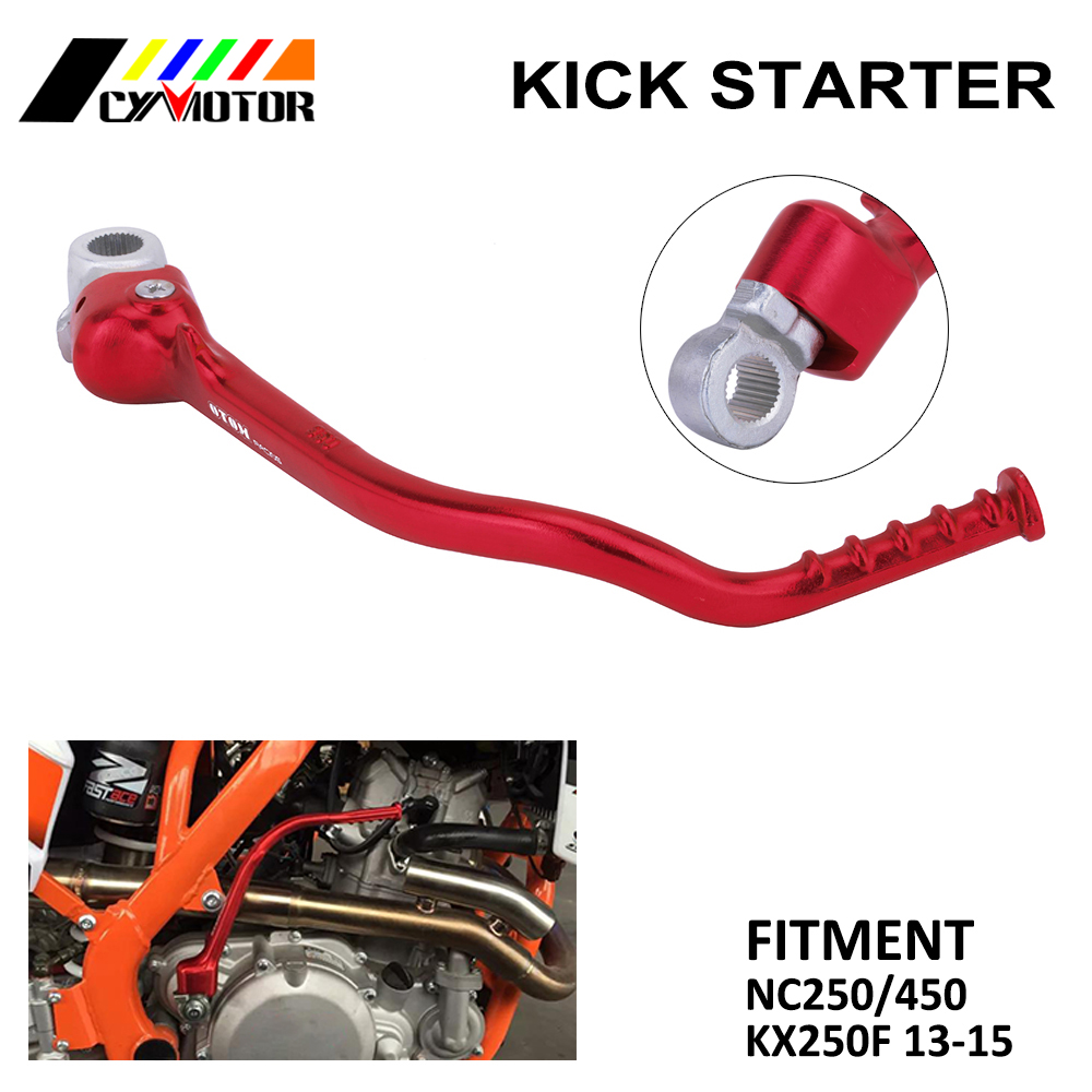 Motorcycle Free shipping CNC Aluminum Kick Start Lever Pedal For KX250F KX 250F 2013 2014 2015 NC250 NC450Motorcycle Free shipping CNC Aluminum Kick Start Lever Pedal For KX250F KX 250F 2013 2014 2015 NC250 NC450