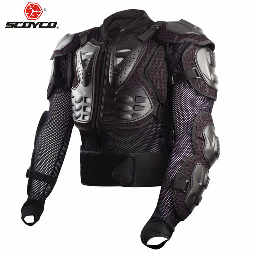 SCOYCO Body Armor Motorcycle Motocross Protection Vest Moto Cross Clothing Back Goods Equipment Chest Racing Motorbike Armour