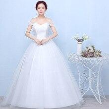 Princesa marfim vestido de casamento elegante vestido de baile querida fora do ombro vestido de noiva com renda volta vestido de noiva 2020 mariage