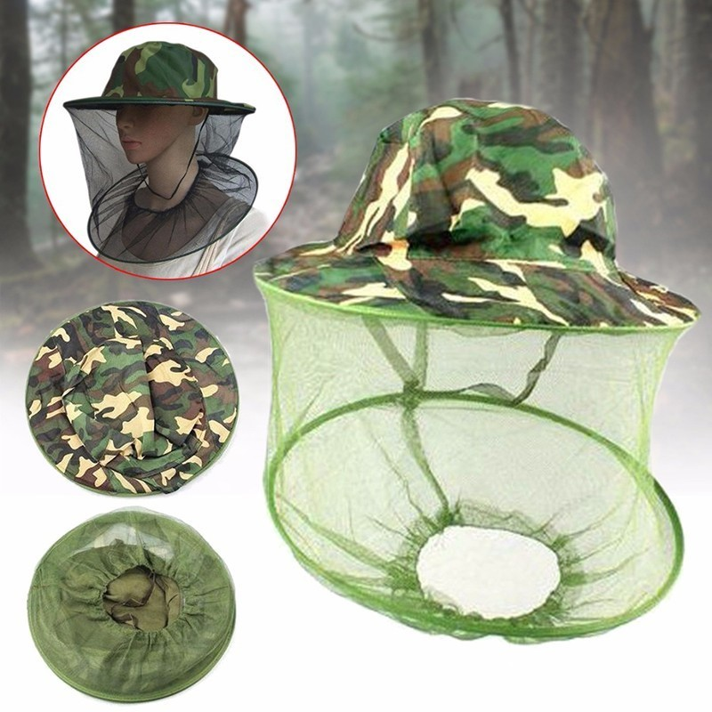 Camouflage Anti Mosquito Bee Hat With Net Mesh Head Cover Fisherman Hat Beekeeping Camping Mask Face Protect Cap Beekeeping ToolCamouflage Anti Mosquito Bee Hat With Net Mesh Head Cover Fisherman Hat Beekeeping Camping Mask Face Protect Cap Beekeeping Tool