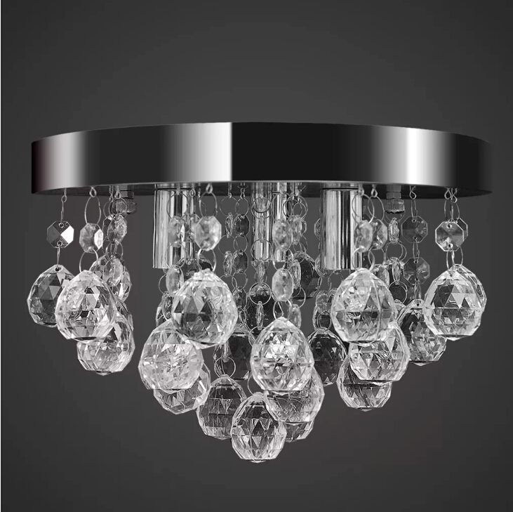 Vidaxl Pendant Ceiling Lamp Crystal Design Chandelier High Quality Chrome Elegant Design Ceiling Light Bright Night Light