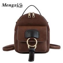 hot deal buy mengxilu fashion backpacks girls small travel shoulder bag women high quality leather school backpack rucksack mochlia feminina