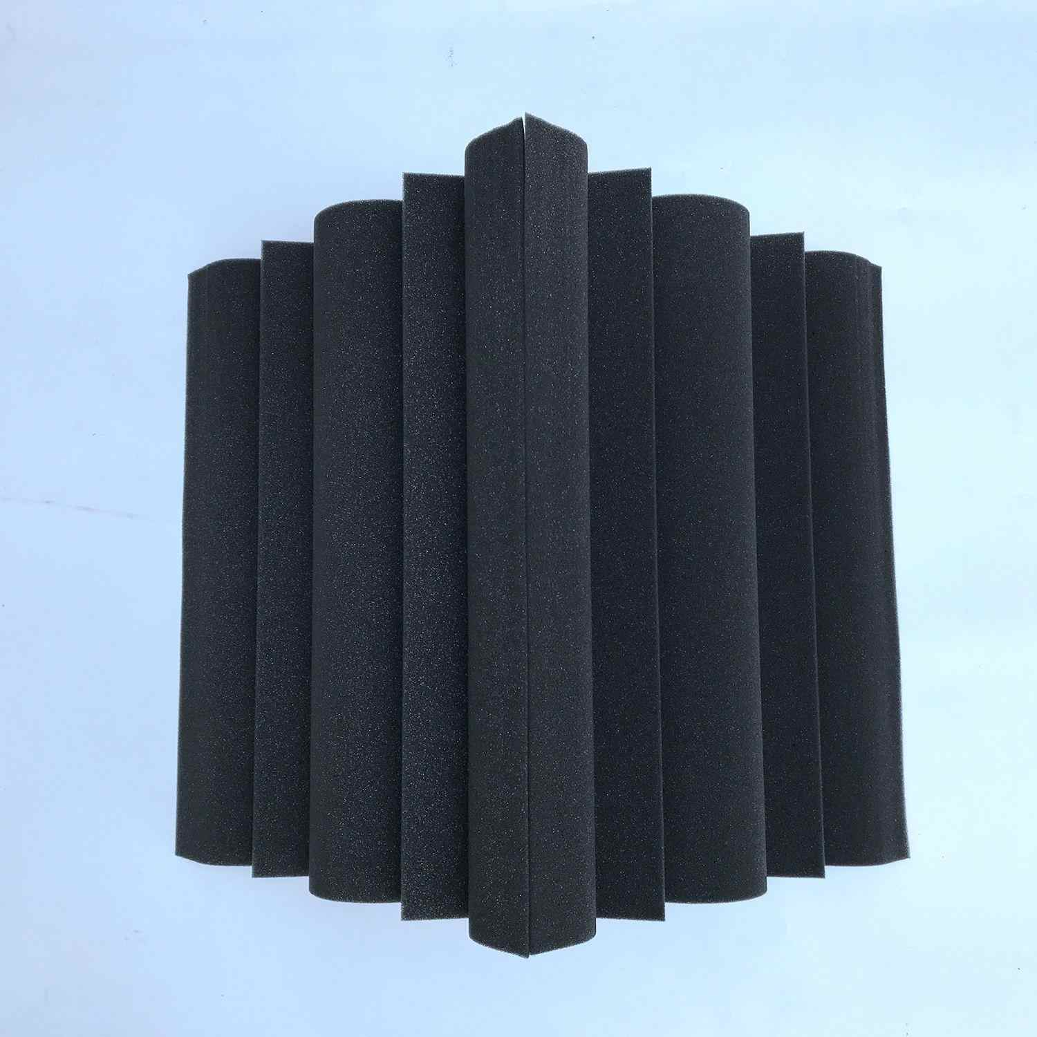 4 pcs Corner Bass Trap Acoustic Panel Studio Sound Absorption Foam 12*12*24cm For maximum noise absorption