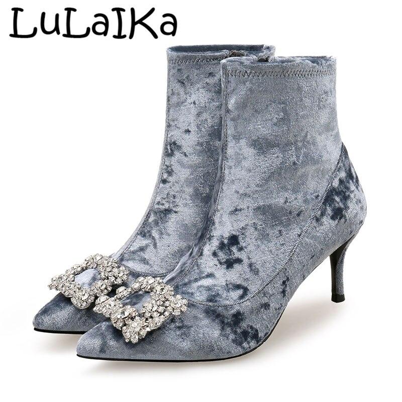 7ff38745b6f5fe 4 De Chaussures En Nouveau couleur 2 1 Haute Sexy Strass Femme 3 Talon  Solide 7 ...