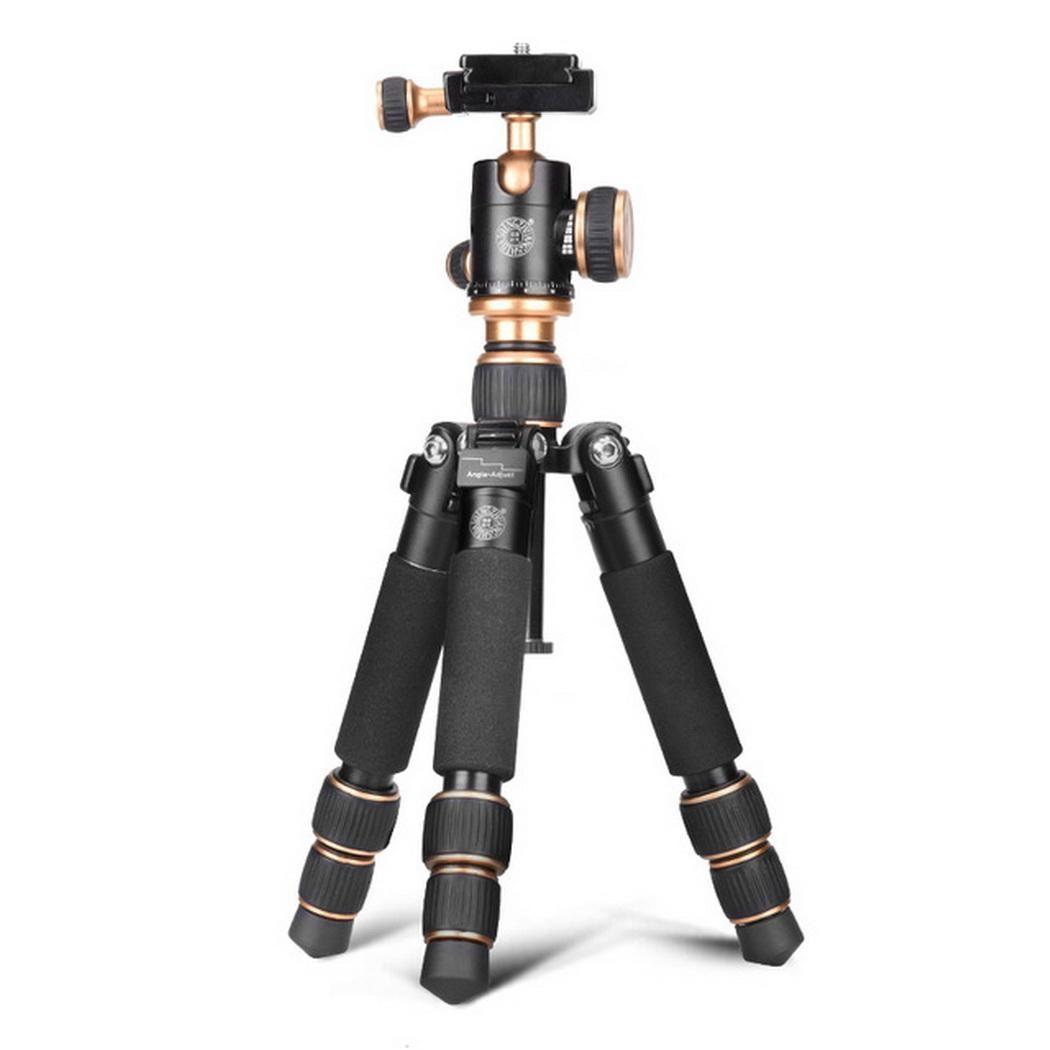 Professionnel photographique Portable pliable caméra trépied télescopique Mini caméra amortissement balle Type PTZ trépied photographie