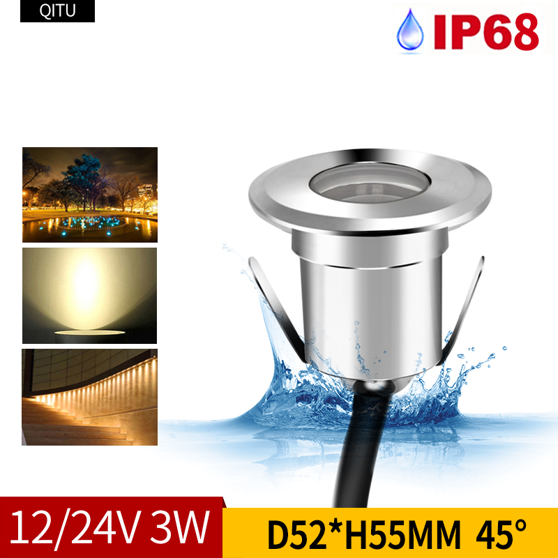 Have An Inquiring Mind Spot 3w Lawn Outdoor Buried Built-in Led Waterproof Embedded Courtyard Spotlight Colorful Lamp Garden Villa 12-24v Downlight Strengthening Waist And Sinews Lights & Lighting Led Underground Lamps