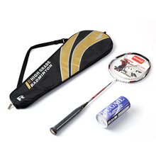 Badminton Racket Set Ultralight Carbon Fiber Baminton Racquet and Tube of 3 Shuttlecocks Birdies with Cover Bag