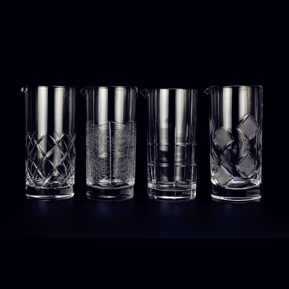 Fouet à Cocktail en cristal sculpté mélangeant la barre de fête en verre barman Martini Modulation mélange tasse outils de secoueur de vin accessoires