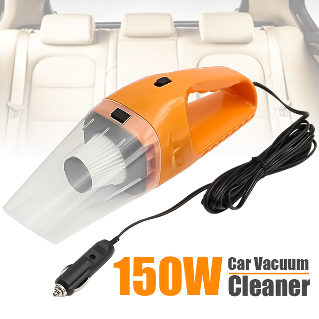 Car Vacuum Cleaner 150W 12V Portable Handheld Auto Vacuum Cleaner Wet Dry Dual Use Duster Aspirateur Voiture 2