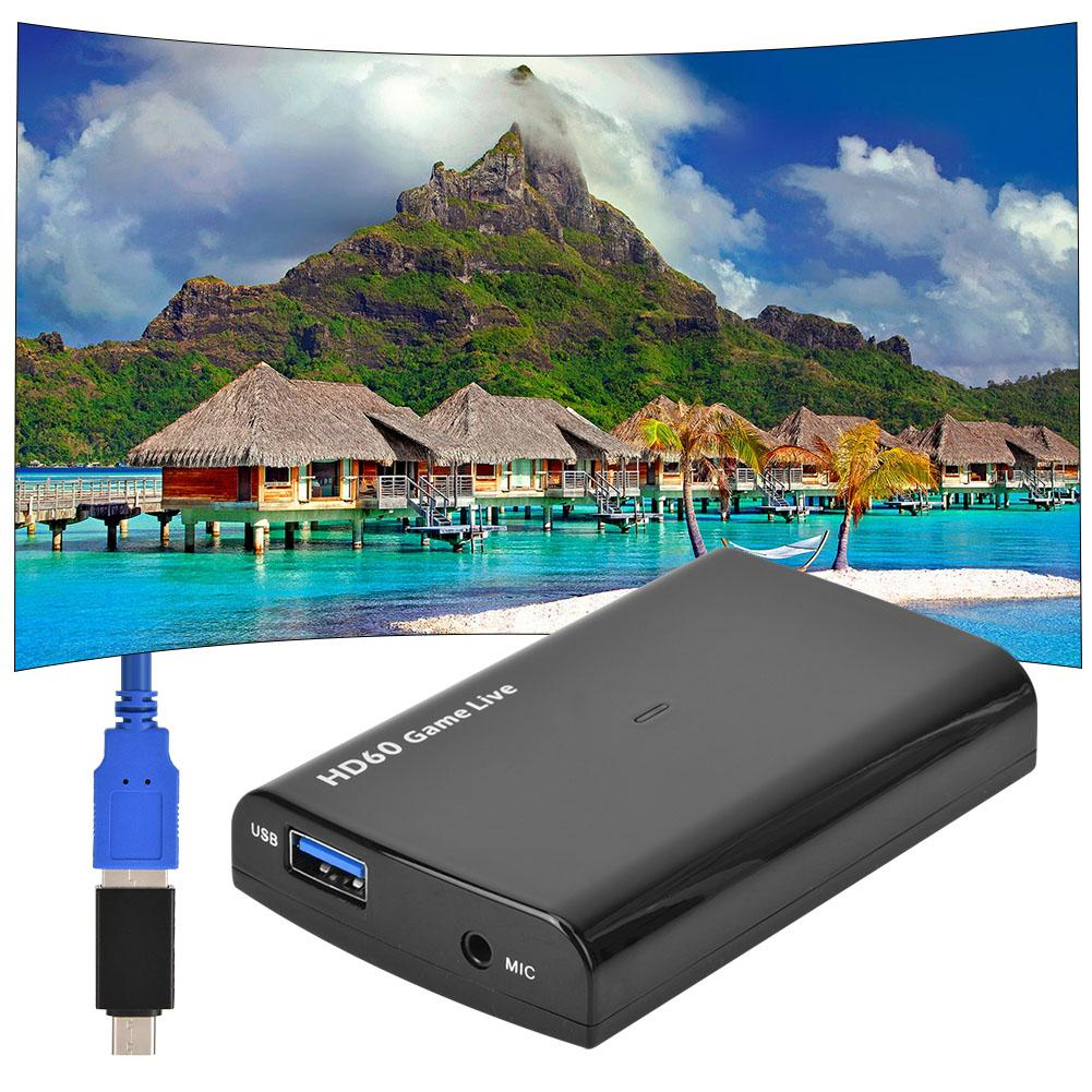4K USB 3 0 HDMI to HDMI HD60 Video Capture Card Game Live Broadcast Recorder for