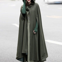 Medieval Witch Halloween Womens Fashion Jackets Cosplay Coat Ladies Cloak Parka Outwear Vintage Elegant Hooded Maxi Long Cloak