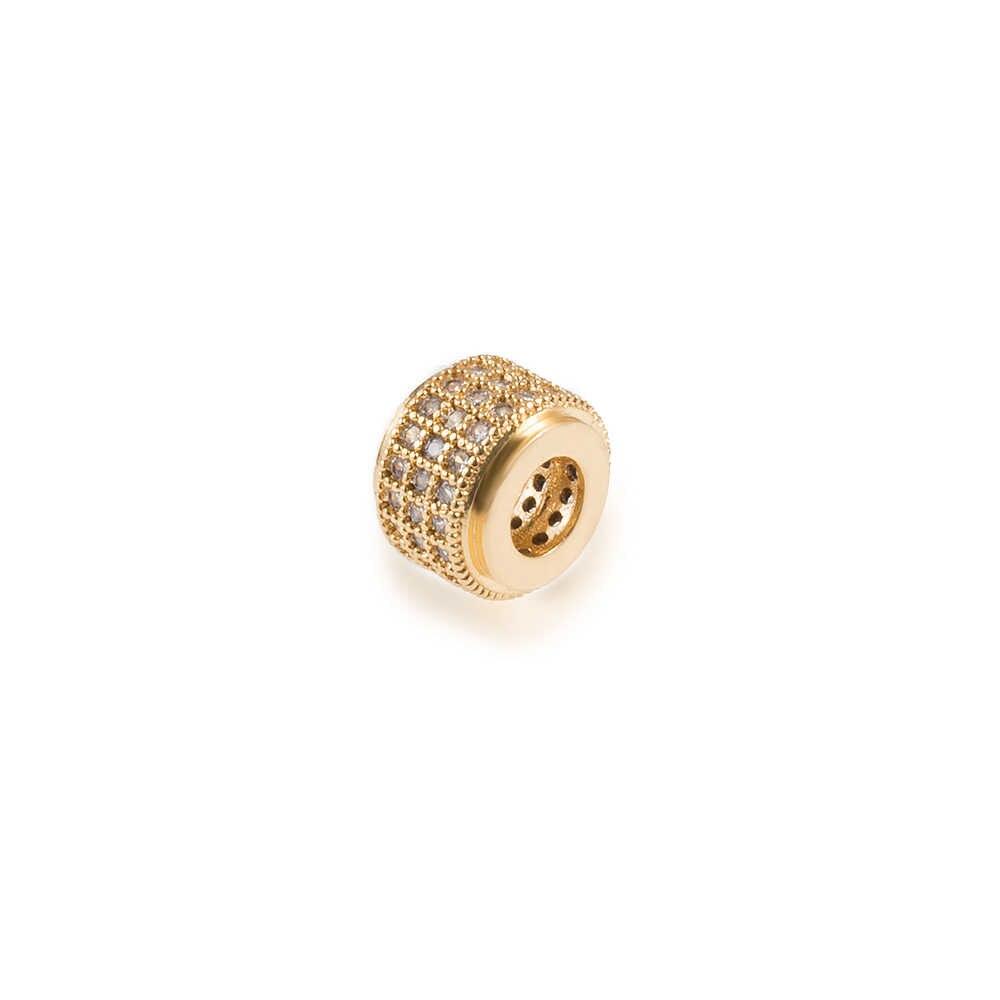 9*6 مللي متر النحاس مكعب كرة من أكسيد الزركونيوم Diy مجوهرات لصنع الاكسسوارات سوار قلادة حفرة نموذج العثور دقيق مايكرو تمهيد
