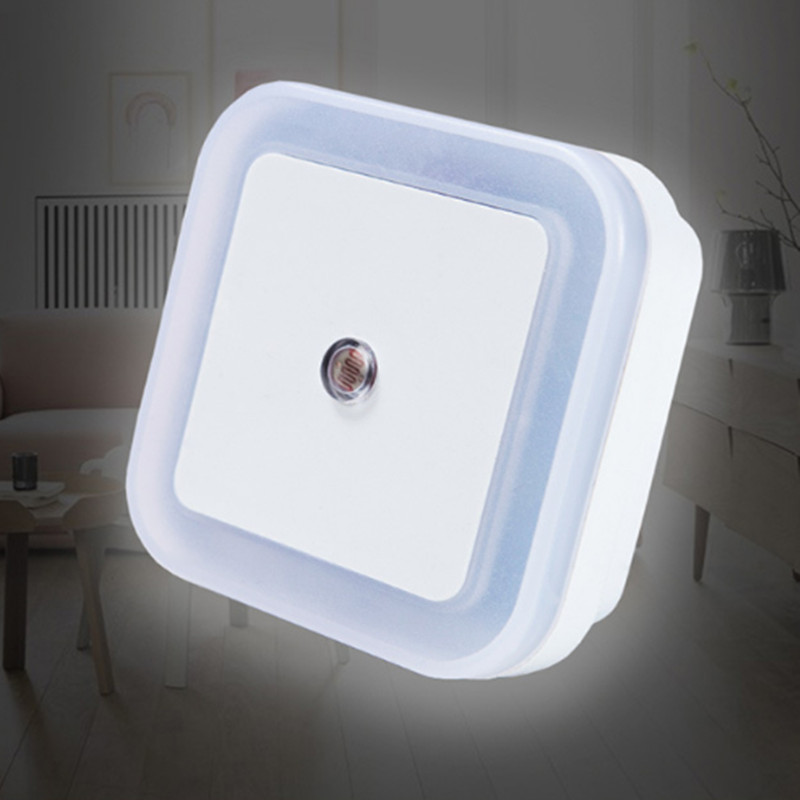 CLAITE Novelty Light Sensor LED Night Light Baby Bedside Lamp Night Lamp Luminarias Sleep Light For Kid Bedroom Stair EU US Plug